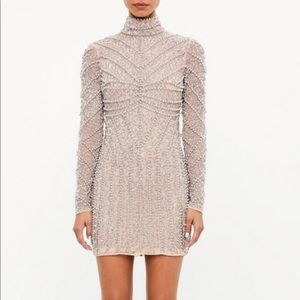 Misguided Peace + Love Silver High Neck dress